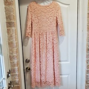 DAINTY JEWELLS 3/4 sleeve modest lace maxi dress